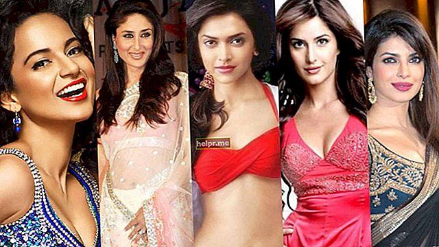 Top 50 cele mai înalte actrițe din Bollywood
