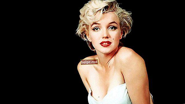 Marilyn Monroe Altura, peso, edad, estadísticas corporales