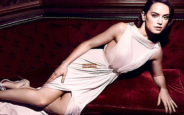 Daisy Ridley Altura, peso, edad, estadísticas corporales