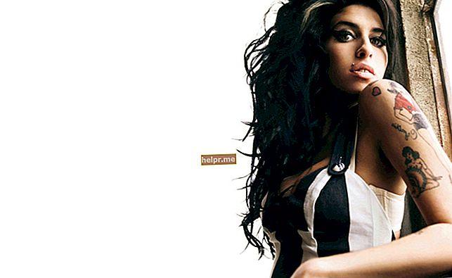 Amy Winehouse magasság, súly, életkor, teststatisztika