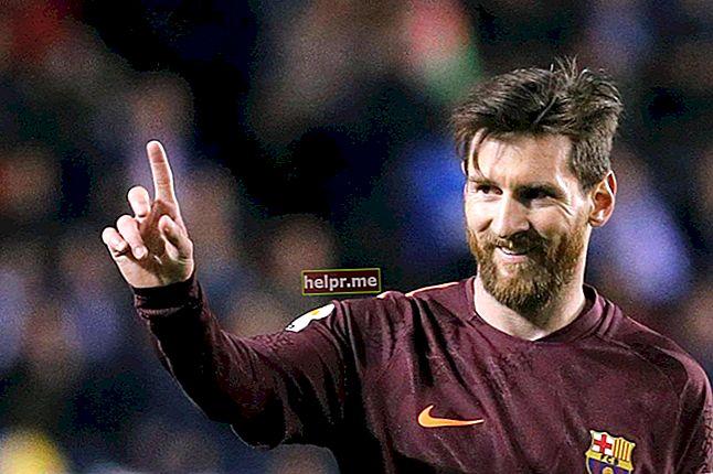 Lionel Messi Altura, peso, edad, estadísticas corporales