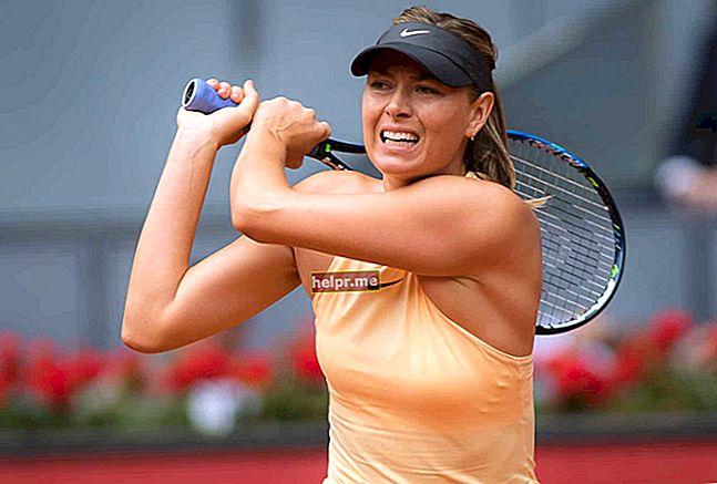 Maria Sharapova Altura, peso, edad, estadísticas corporales