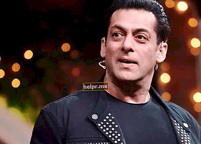 Salman Khan Înălțime, greutate, vârstă, statistici corporale